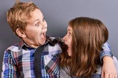 Enfants mignons dupant autour Photos libres de droits