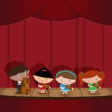 Enfants - musiciens illustration stock