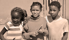Enfants non identifiés Image stock