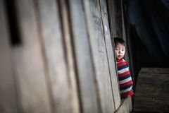 Enfants non identifiés du ` s de mong de ` de H dans Sapa, Vietnam Photos stock