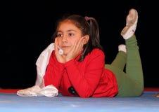 Enfants pendant le fin d'année d'essai Photo stock