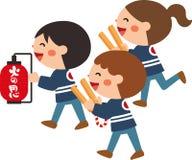Enfants qui patrouillent le feu Conception plate Illustration de vecteur personnage de dessin animé illustration stock