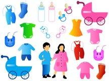 Enfants réglés Images libres de droits