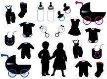 Enfants réglés Image libre de droits