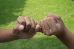 Enfants retenant des mains Image stock