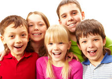 Enfants riants Images stock