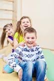 Enfants riants Photographie stock