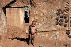 Enfants sous-alimentés en Inde Image libre de droits