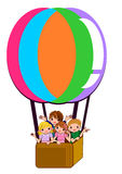 Enfants sur la bande dessinée d'air de ballon Photographie stock