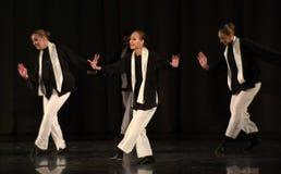 Enfants sur la danse juive d'étape Image stock