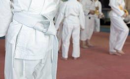 Enfants sur la formation d'arts martiaux photo libre de droits