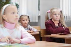 Enfants sur la leçon réelle Photo stock