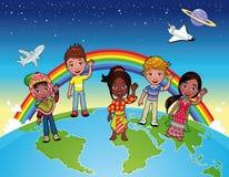 Enfants sur le monde. Photographie stock