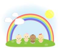 Enfants sur le pré illustration libre de droits