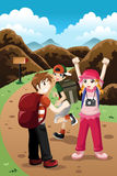 Enfants sur une aventure illustration de vecteur