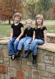 Enfants sur une passerelle Image stock