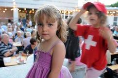 Enfants sur une réception Images libres de droits