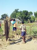 Enfants tribals indiens Photographie stock