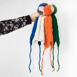 Enfants tricotés confortables réglés des chapeaux Photo stock