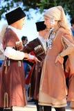 Enfants turcs dans des costumes nationaux Image libre de droits