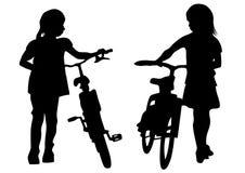 Enfants un de cycliste Image stock