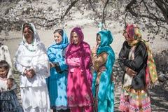 Enfants venant à l'école dans Skardu, Pakistan Image stock