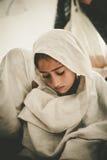 Enfants venant à l'école dans Skardu, Pakistan Images libres de droits