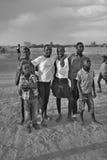 Enfants vivant dans la ville de Bangani Photographie stock