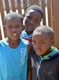 Enfants vivant dans le taudis de Mondesa Photographie stock