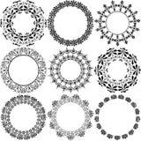 Enfeites decorativos do selo do círculo ilustração royalty free