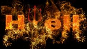 Enfer en feu Images libres de droits