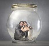 Enfermé dans le mariage Photographie stock