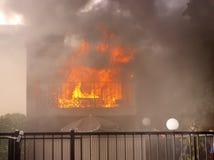 Enfermé en incendie Photos libres de droits
