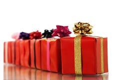 enferme dans une boîte des cadeaux Photo stock