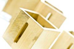 enferme dans une boîte en bois Photo libre de droits