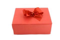 enferme dans une boîte le blanc d'isolement par cadeau Image libre de droits