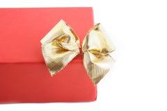 enferme dans une boîte le blanc d'isolement par cadeau Images stock