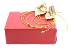 enferme dans une boîte le blanc d'isolement par cadeau Photo stock