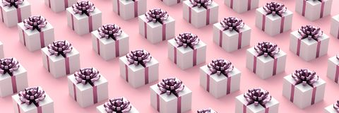 enferme dans une boîte le blanc de cadeau illustration de vecteur