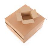 enferme dans une boîte le blanc du carton deux Image libre de droits