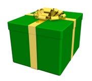 enferme dans une boîte le blanc séparé par cadeau Image stock