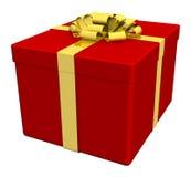 enferme dans une boîte le blanc séparé par cadeau Photos stock