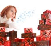 enferme dans une boîte le cadeau Images stock