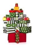 enferme dans une boîte le cadeau de Noël image libre de droits