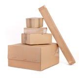 enferme dans une boîte le groupe de carton Image stock