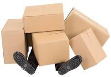 enferme dans une boîte le mâle de segment de mémoire de pieds dessous Images stock