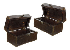 enferme dans une boîte vieil en bois Images stock