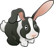 Enfermedad adorable linda del vector del conejo Fotos de archivo libres de regalías