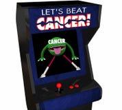 Enfermedad Arcade Game de la curación del tratamiento contra el cáncer del golpe de la lucha stock de ilustración