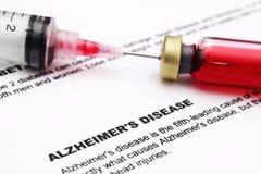 Enfermedad de Alzheimer Imagen de archivo libre de regalías